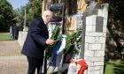 Ο Πρόεδρος της Δημοκρατίας Κάρολος Παπούλιας στο μνημειακό-ιστορικό χώρο του πρώην στρατοπέδου «ΕΑΤ-ΕΣΑ» στο Πάρκο Ελευθερίας όου κατέθεσε στεφάνι με την ευκαιρία της 40ής Επετείου Αποκατάστασης της Δημοκρατίας, την Πέμπτη 24 Ιουλίου 2014. (EUROKINISSI/ΓΕΩΡΓΙΑ ΠΑΝΑΓΟΠΟΥΛΟΥ)