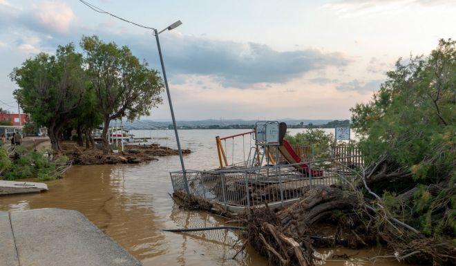 Εικόνα από τα πλημμυρικά φαινόμενα στην Εύβοια