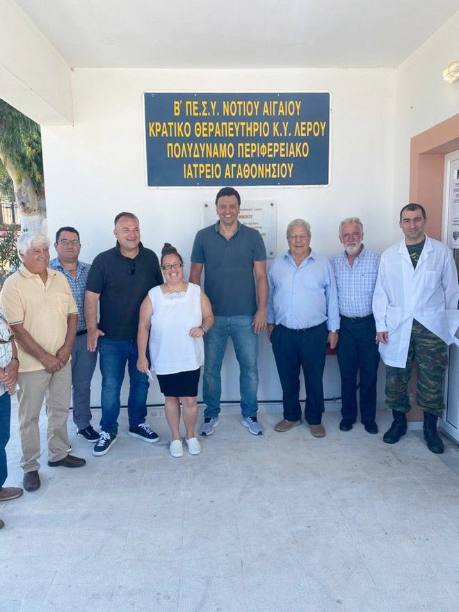 Επίσκεψη του υπουργού Υγείας Βασίλη Κικίλια στο Αγαθονήσι