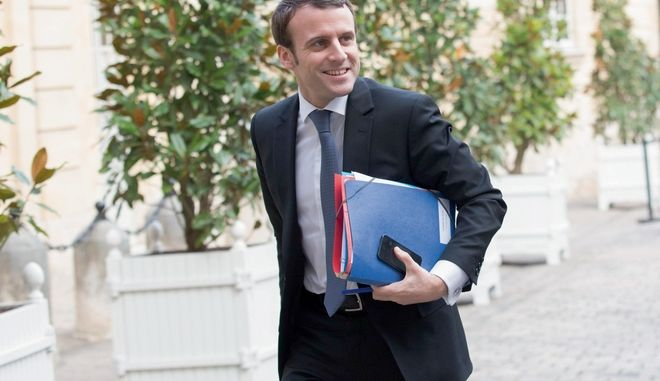 Christophe Morin / IP3 . Paris, le 19 fevrier 2015 - Reunion des ministres et secretaires d Etat a l Hotel de Matignon, en presence de Emmanuel Macron, ministre de l Economie, de l Industrie et du Numerique