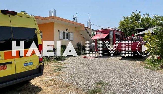 Ηλεία: Πτώση αεροσκάφους δίπλα σε σπίτι - Νεκροί οι δύο επιβαίνοντες