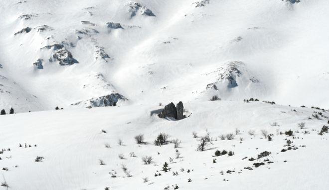 Χιόνια σε βουνό της Ελλάδας
