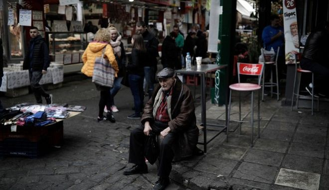 Vlali market (Kapani) in central Thessaloniki, Greece on February 25, 2017. /   (),      , ,  25  2017