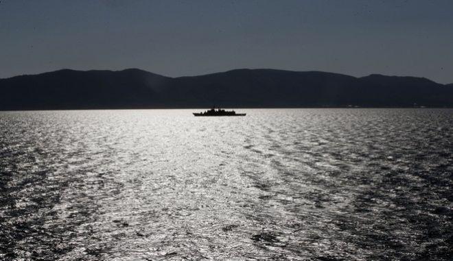 Ελληνική φρεγάτα περιπολεί στο Αιγαίο
