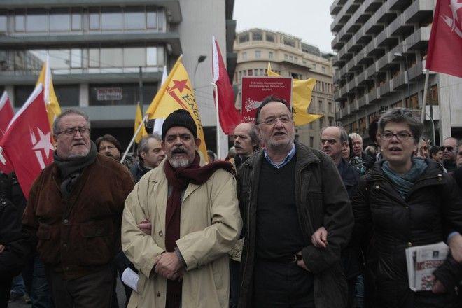 Συλλαλητήριο της ΓΣΕΕ και της ΑΔΕΔΥ για το ασφαλιστικό το Σάββατο 16 Ιανουαρίου 2016. Στο συλλαλητήριο συμμετείχαν η ΠΟΕ-ΟΤΑ, η ΟΛΜΕ, η ΔΟΕ, το ΤΕΕ, το ΕΚΑ, η ΠΟΕΔΗΝ, η ΟΕΓΝΕ, η ΕΣΗΕΑ, η Πανελλήνια Ομοσπονδία Πολιτικών Συνταξιούχων, η Πανελλήνια Ένωση Συνταξιούχων Εκπαιδευτικών,Ενιαίο Δίκτυο Συνταξιούχων,το ΕΠΑΜ καθώς και η Λαϊκή Ενότητα.  (EUROKINISSI/ΣΤΕΛΙΟΣ ΣΤΕΦΑΝΟΥ)