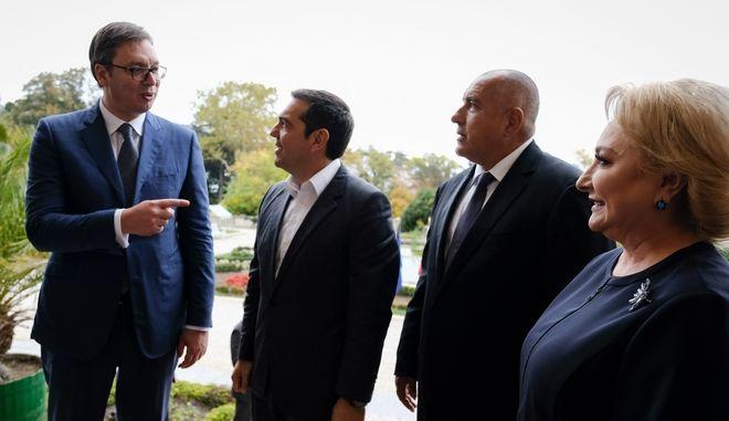 Ο πρωθυπουργός Αλέξης Τσίπρας βρίσκεται στην Βουλγαρία,προκειμένου να συμμετάσχει στην τετραμερή σύνοδο μεταξύ Ελλάδας,Σερβίας,Βουλγαρίας και Ρουμανίας στην Βάρνα, Παρασκευή 2 Νοεμβρίου 2018 (EUROKINISSI/ΓΡ.ΤΥΠΟΥ ΠΡΩΘΥΠΟΥΡΓΟΥ/ANDREA BONETTI)