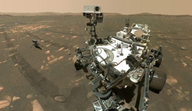 Το ρομποτικό όχημα εξερεύνησης της NASA, 'Perseverance' που έχει σταλεί στον Άρη για να συλλέξει δείγμα από τον πλανήτη.