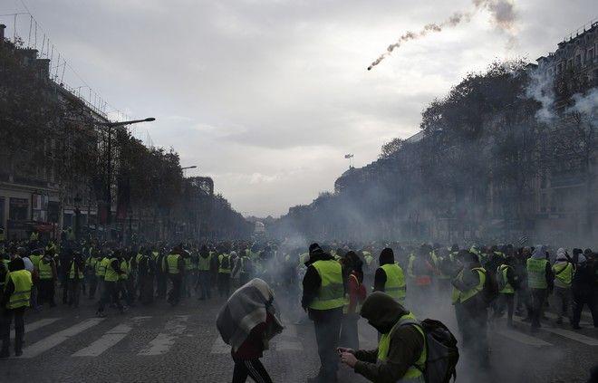 Ρίψη δακρυγόνων στην κινητοποίηση των