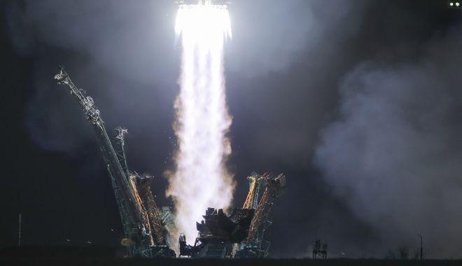 Η στιγμή εκτόξευσης του διαστημόπλοιου