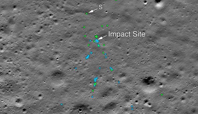 H ΝASA εντόπισε τα συντρίμμια του ινδικού σκάφους Vikram στη Σελήνη