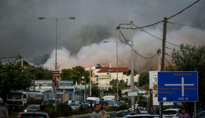 Κυκλοφοριακό χάος την ημέρα της φωτιάς