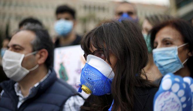 Από πορεία διαμαρτυρίας για την περιβαλλοντολογική καταστροφή στο Λίβανο