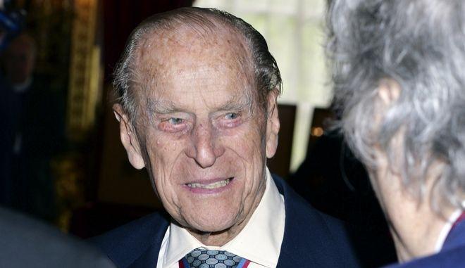 Ο δούκας του Εδιμβούργου, σύζυγος της βασίλισσας Ελισάβετ, πρίγκιπας Φίλιππος σε εκδήλωση στο Λονδίνο