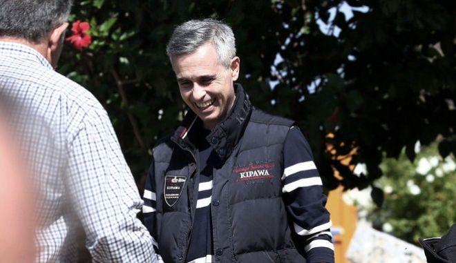 """Ο Μιχάλης Λεμπιδάκης στο εργοστάσιό του """"Πλαστικά Κρήτης"""" στη βιομηχανική περιοχή του Ηρακλείου, την Τρίτη 3 Οκτωβρίου 2017. Ο επιχειρηματίας απελευθερώθηκε από τους απαγωγείς του σε επιχείρηση της ΕΛ.ΑΣ. έπειτα από έξι μήνες ομηρείας. (EUROKINISSI)"""