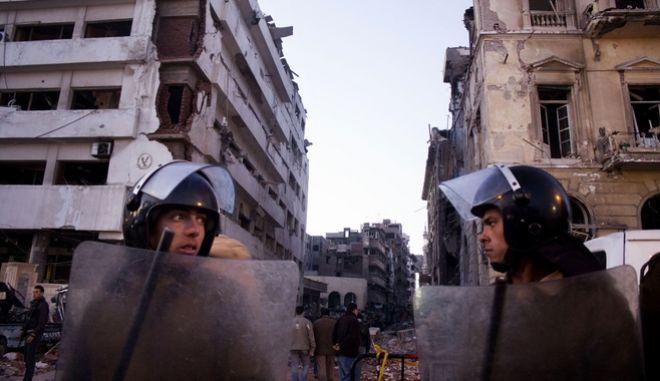 Αιγύπτιοι στρατιώτες στη Μανσούρα