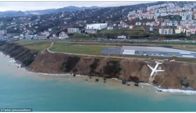 Τουρκία:Αεροπλάνο με 162 επιβάτες γλίστρησε από τον διάδρομο προσγείωσης στον γκρεμό