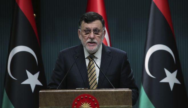 Ο επικεφαλής της διεθνώς αναγνωρισμένης Κυβέρνησης Εθνικής Συμφωνίας της Λιβύης, Φαγιέζ αλ Σάρατζ