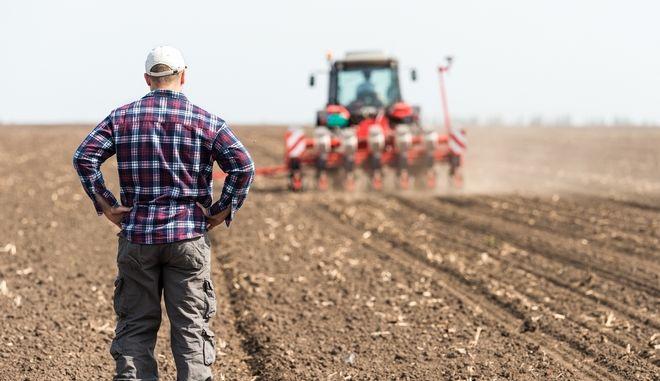 Αγρότες σε χωράφι