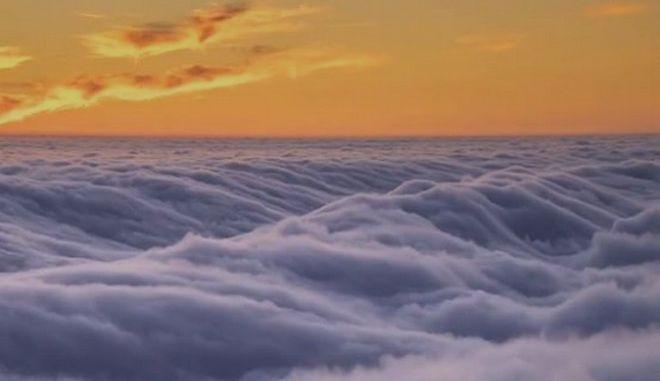 Βίντεο: Η εντυπωσιακή 'θάλασσα ομίχλης' στην Καλιφόρνια