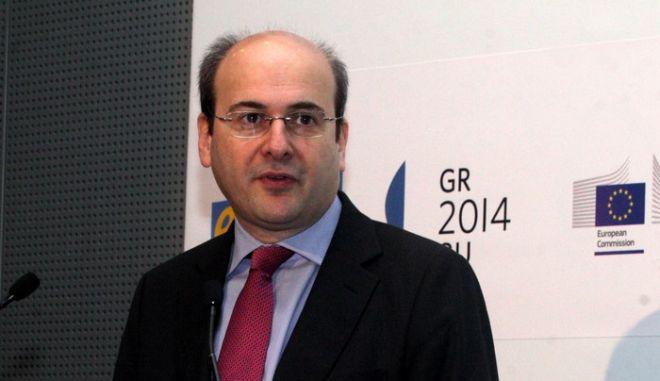 Ο υπουργός Ανάπτυξης και Ανταγωνιστικότητας Κωστής Χατζηδάκης στο συνέδριο βe-Skills for Jobs 2014 Grand Eventβ που διοργάνωσε ο Σύνδεσμος Επιχειρήσεων Πληροφορικής και Επικοινωνιών (ΣΕΠΕ) την Τρίτη 6 Μαΐου 2014. (EUROKINISSI/ΑΛΕΞΑΝΔΡΟΣ ΖΩΝΤΑΝΟΣ)
