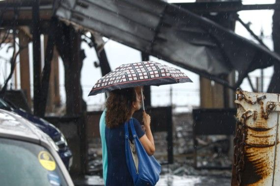 Βροχή στο Μάτι, μετά την πυρκαγιά και την τραγωδία. 28 Ιουλίου 2018