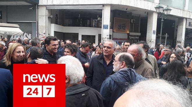Επέτειος Πολυτεχνείου Οι πρώτες φωτογραφίες από το μπλοκ του ΣΥΡΙΖΑ στην πορεία για την εξέγερση των φοιτητών
