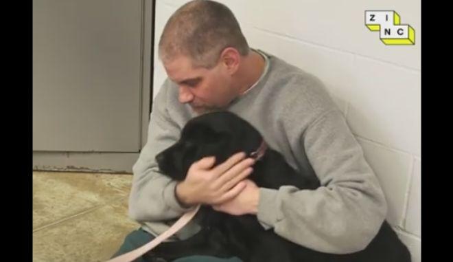 Μια υπέροχη ιδέα: Επέτρεψαν σκυλιά μέσα σε φυλακή