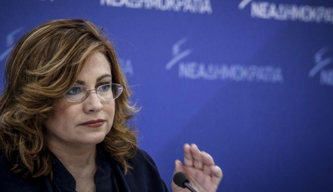 Η εκπρόσωπος τύπου της ΝΔ Μαρία Σπυράκη