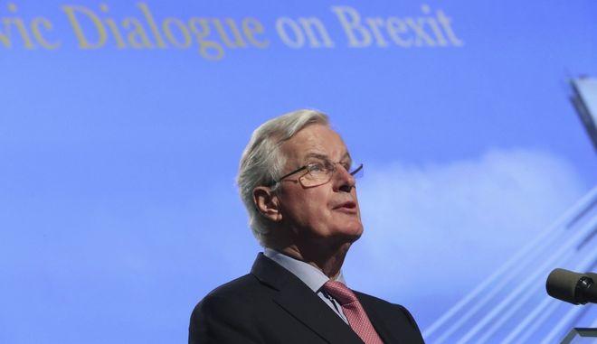 Ο επικεφαλής της διαπραγματευτικής ομάδας της Ε.Ε. για το Brexit, Μισέλ Μπαρνιέ