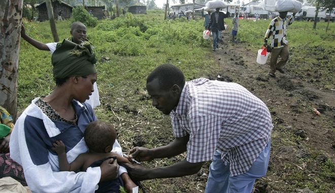 Εμβολιασμός στο Κονγκό.