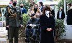 Κατάθεση στεφάνου στο Μνημείο Ολοκαυτώματος Ελλήνων Εβραίων στην Αθήνα από την Πρόεδρο της Δημοκρατίας Κατερίνα Σακελλαροπούλου