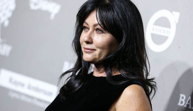 Shannen Doherty attends the 4th Annual Baby2Baby Gala held at 3Labs on Saturday, Nov. 14, 2015, in Culver City, Calif. (Photo by John Salangsang/Invision/AP)