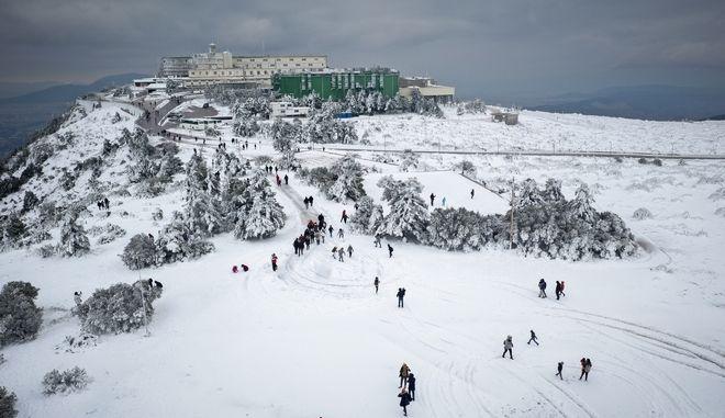 Χιόνι στην Πάρνηθα