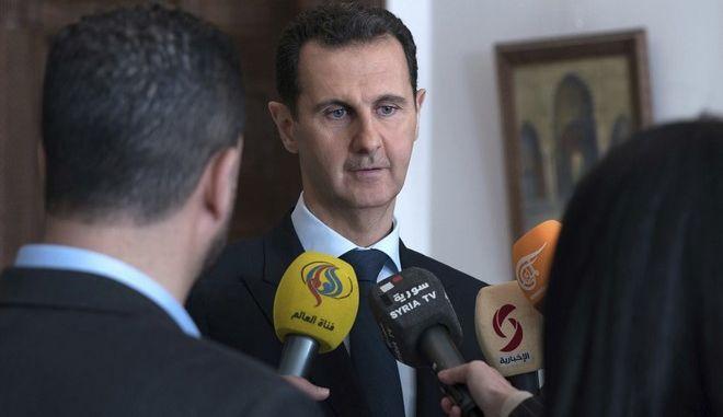 O πρόεδρος της Συρίας Μπασάρ αλ Άσαντ