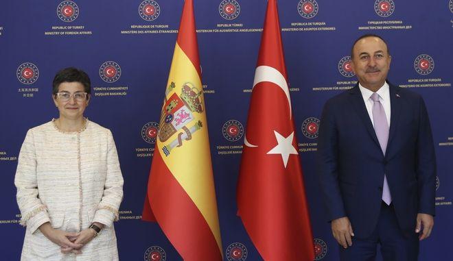 Οι υπουργοί Εξωτερικών Ισπανίας και Τουρκίας