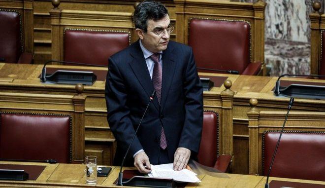 Ο υφυπουργός Προστασίας του Πολίτη, Λευτέρης Οικονόμου