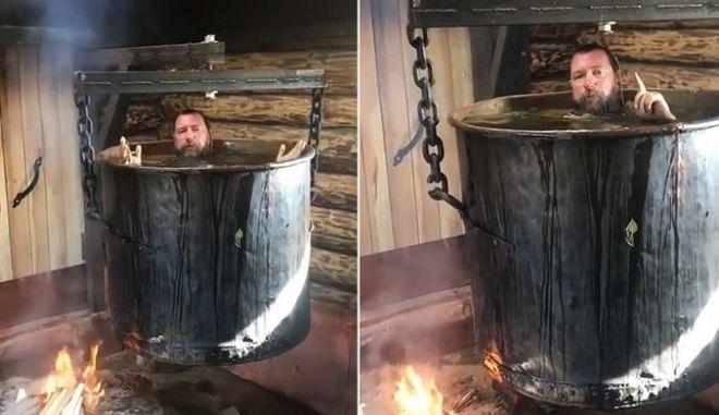 """Ορθόδοξος Ρώσος ομοφοβικός μεγιστάνας """"βράστηκε"""" σε γιγάντιο καζάνι για να """"παραδειγματίσει"""""""