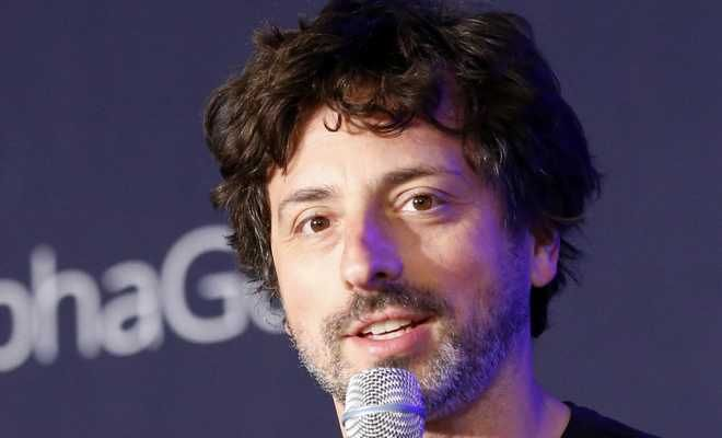 Google co-founder Sergey Brin speaks during a press conference after finishing the third match of the Google DeepMind Challenge Match between South Korean professional Go player Lee Sedol and Google's artificial intelligence program, AlphaGo, in Seoul, South Korea, Saturday, March 12, 2016. (AP Photo/Lee Jin-man)