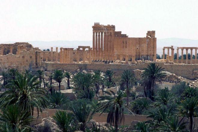 Ο ναός του Baalshamin στην Παλμύρα της Συρίας