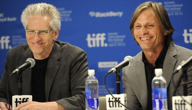 Ο Ντέιβιντ Κρόνενμπεργκ μαζί με τον Βίγκο Μόρτενσεν στο Διεθνές Φεστιβάλ Κινηματογράφου του Τορόντο