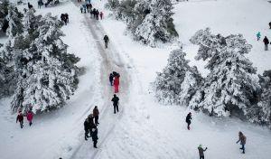 Παιχνίδια στο χιόνι από ψηλά