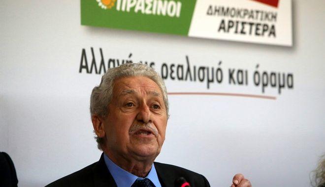 Στιγμιότυπο από την διακαναλική συνέντευξη τύπου του εκλογικού σχήματος Πράσινοι - Δημοκρατική Αριστερά. (EUROKINISSI/ΓΕΩΡΓΙΑ ΠΑΝΑΓΟΠΟΥΛΟΥ)