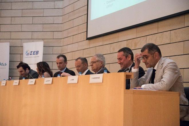 Στιγμιότυπο από την εκδήλωση «Ηλεκτρονική διακυβέρνηση και Ψηφιακές Υπηρεσίες προς τις Επιχειρήσεις. Ο δρόμος προς την ανάπτυξη»