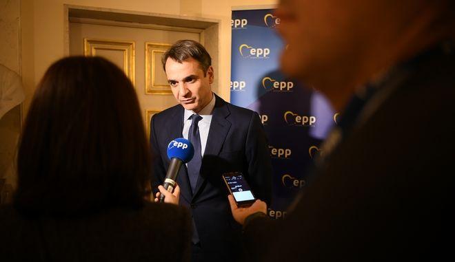 Σύνοδος κορυφής του Ευρωπαϊκού Λαϊκού Κόμματος στις Βρυξέλλες παρουσία του Προέδρου της ΝΔ Κυριάκου Μητσοτάκη (EUROKINISSI/EPP)