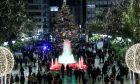 Χριστούγεννα την εποχή του κορονοϊού στο Σύνταγμα