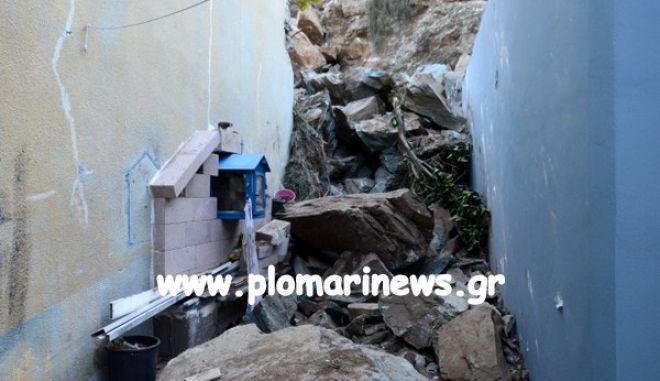 Λέσβος: Στο Πλωμάρι ομάδα του ΕΚΠΑ μετά τις κατολισθήσεις