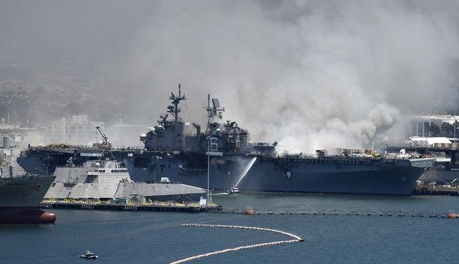 Έκρηξη σε πολεμικό πλοίο στις ΗΠΑ (AP Photo/Denis Poroy)