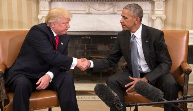Πρώτη συνάντηση Ομπάμα με τον 'ανυπόμονο Τραμπ' στον Λευκό Οίκο