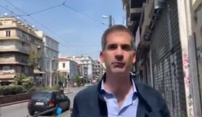 ΑΣΟΕΕ: Ο Μπακογιάννης με επιτόπιο ρεπορτάζ υπόσχεται τέλος παρεμπορίου δια του ασύλου