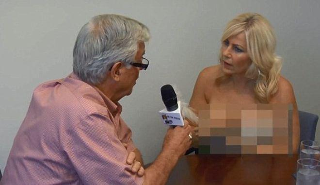 """""""Κοιτάτε με στα μάτια"""": Δημοσιογράφος πήρε συνέντευξη από Δήμαρχο γυμνή"""